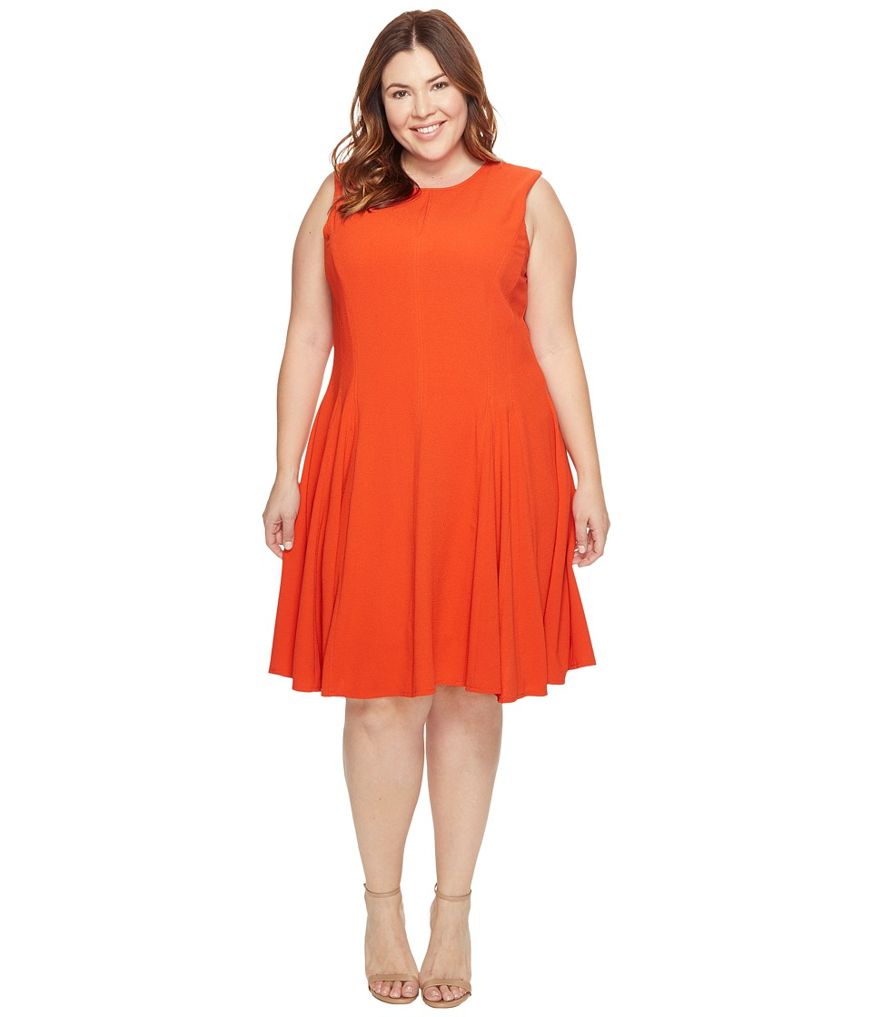 Taylor - Crepe Dress (Tangerine) Women's Dress