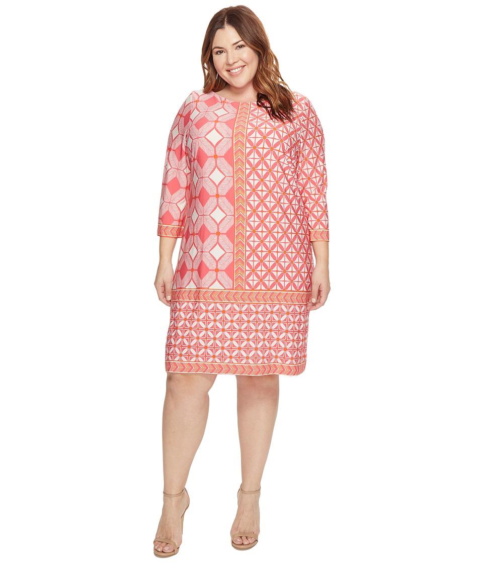 Taylor - Jersey Dress (Fuchsia/Orange) Women's Dress