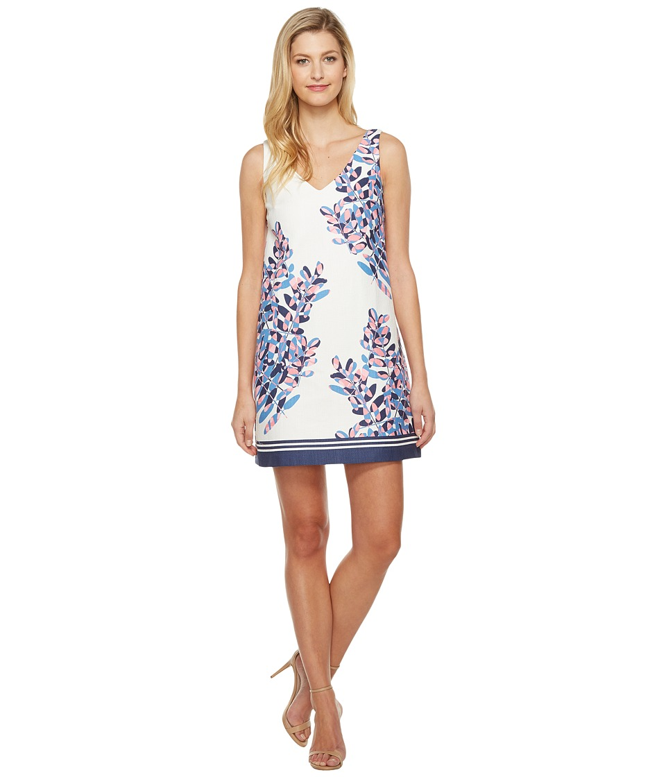 Taylor - Cotton Hopsack Dress (Lapis/Watermelon) Women's Dress