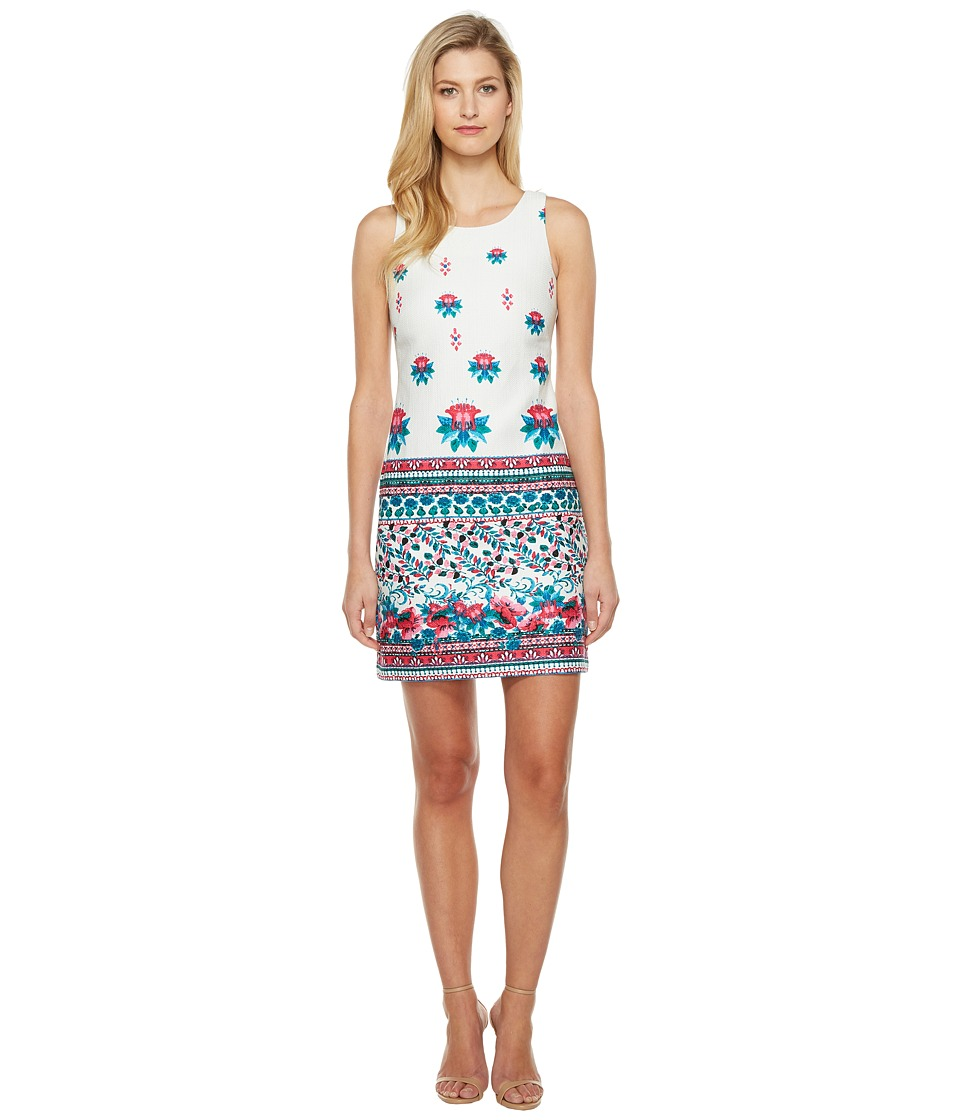 Taylor - Hopsack Dress (Turquoise/Watermelon) Women's Dress