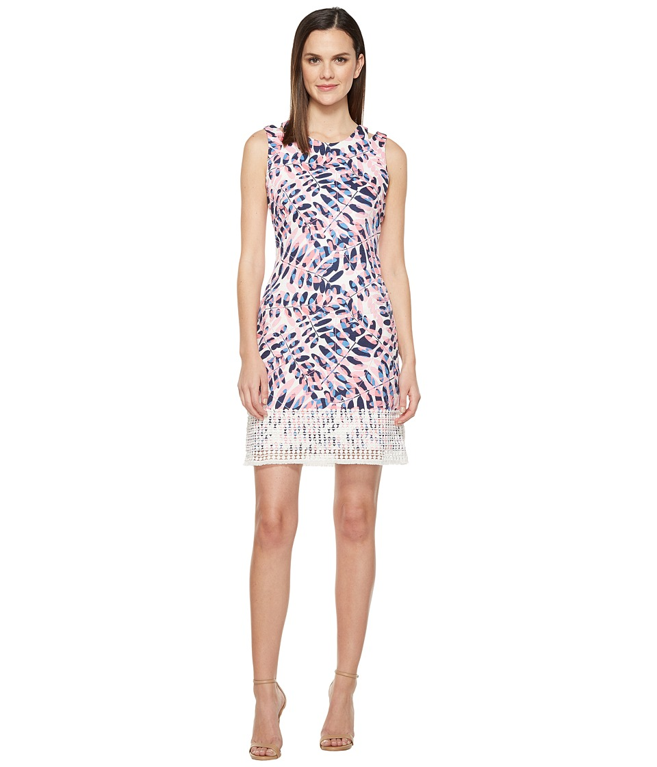 Taylor Hopsack Dress (Lapis/Watermelon) Women