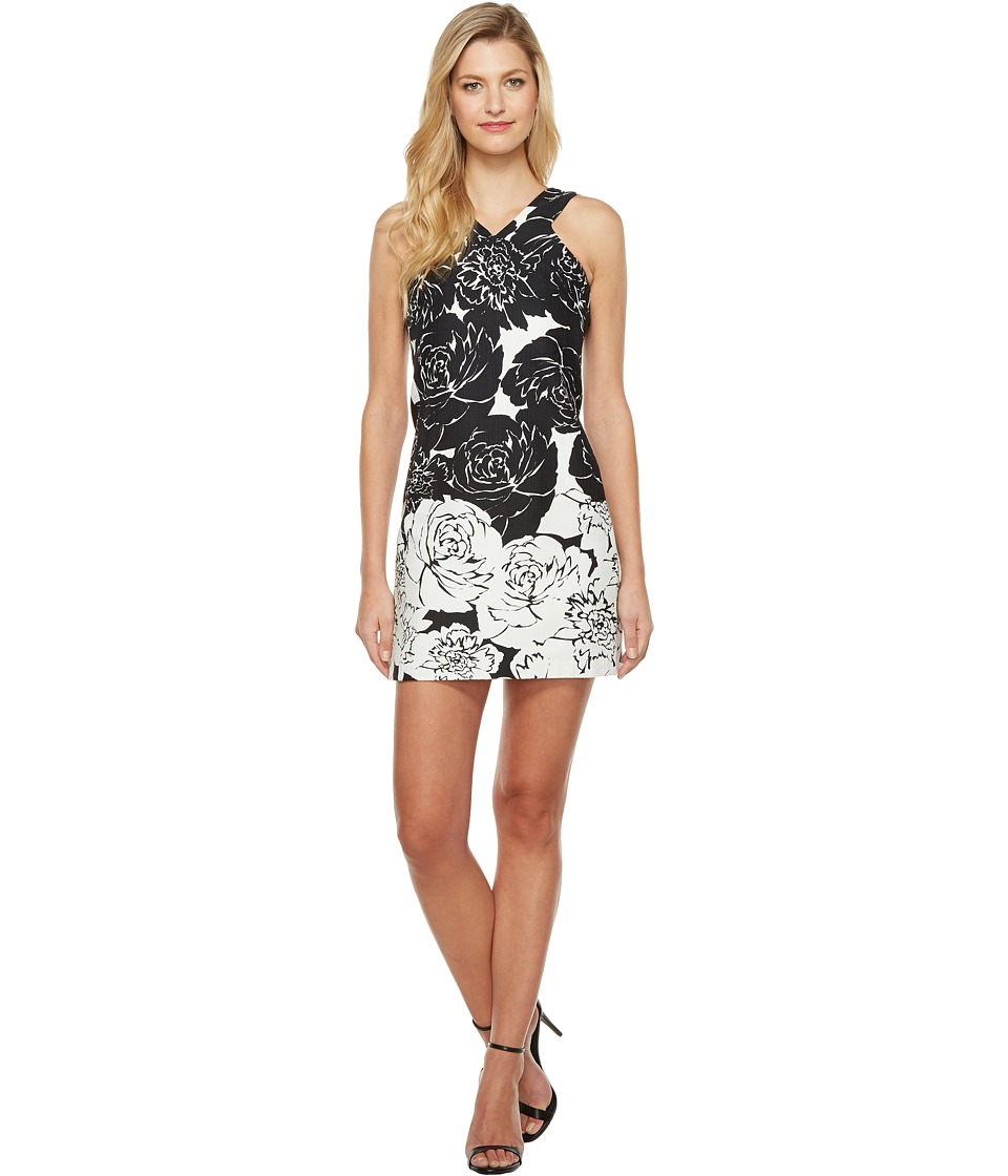 Taylor - Hopsack Dress (Black/White) Women's Dress