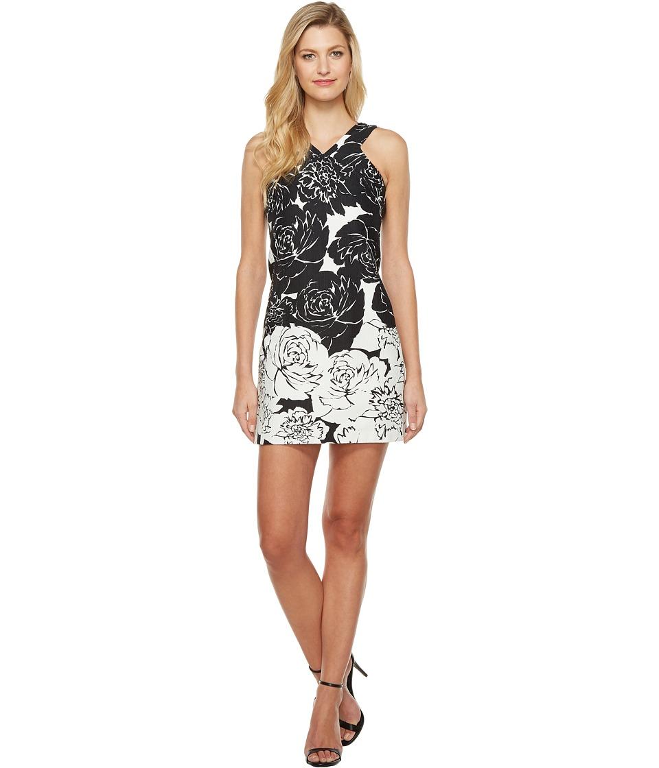 Taylor - Hopsack Dress (Black/White) Women's Dress