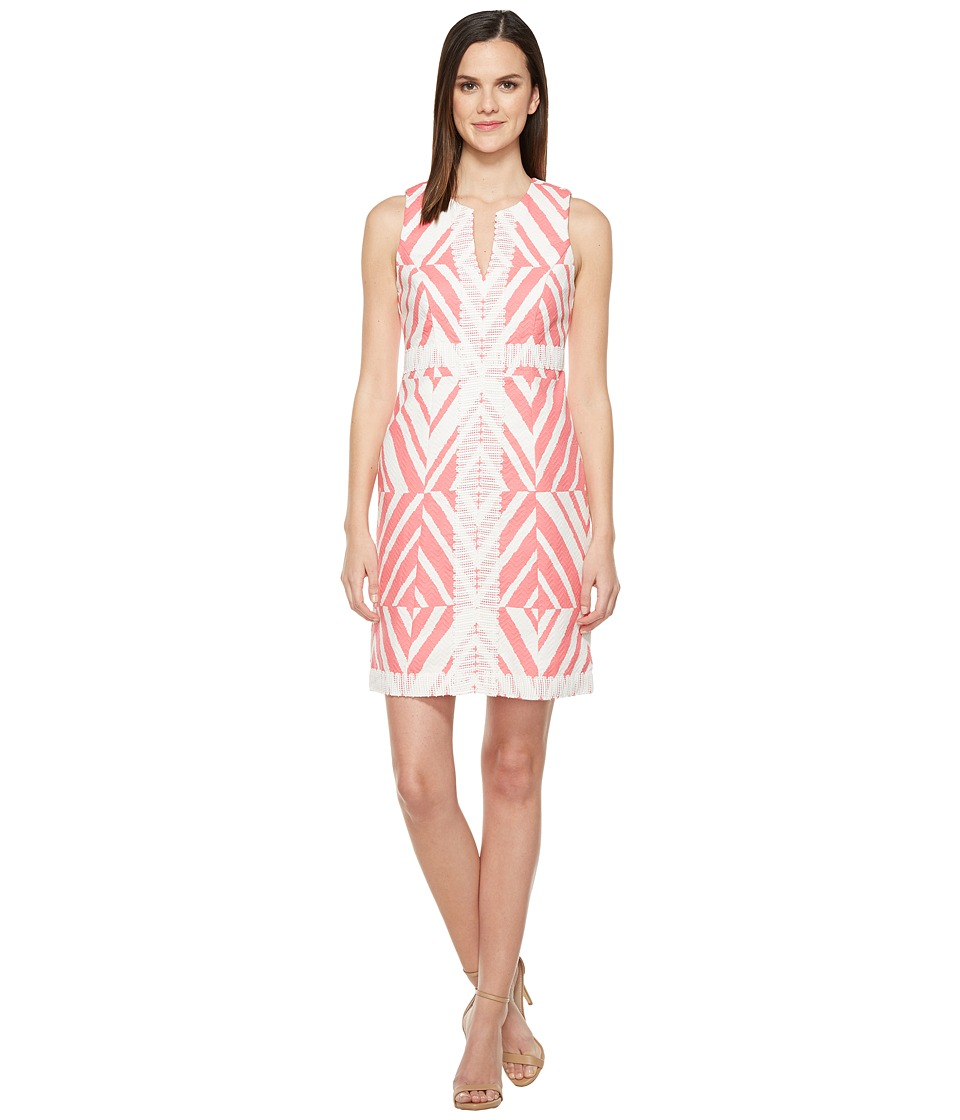 Taylor - Cotton Jacquard Dress (Flamingo) Women's Dress