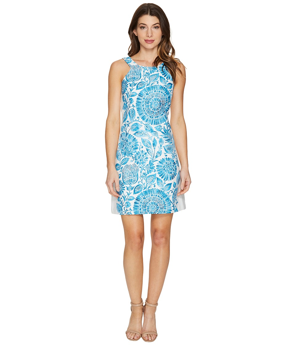 Taylor - Cotton Hopsack Dress (Azure) Women's Dress