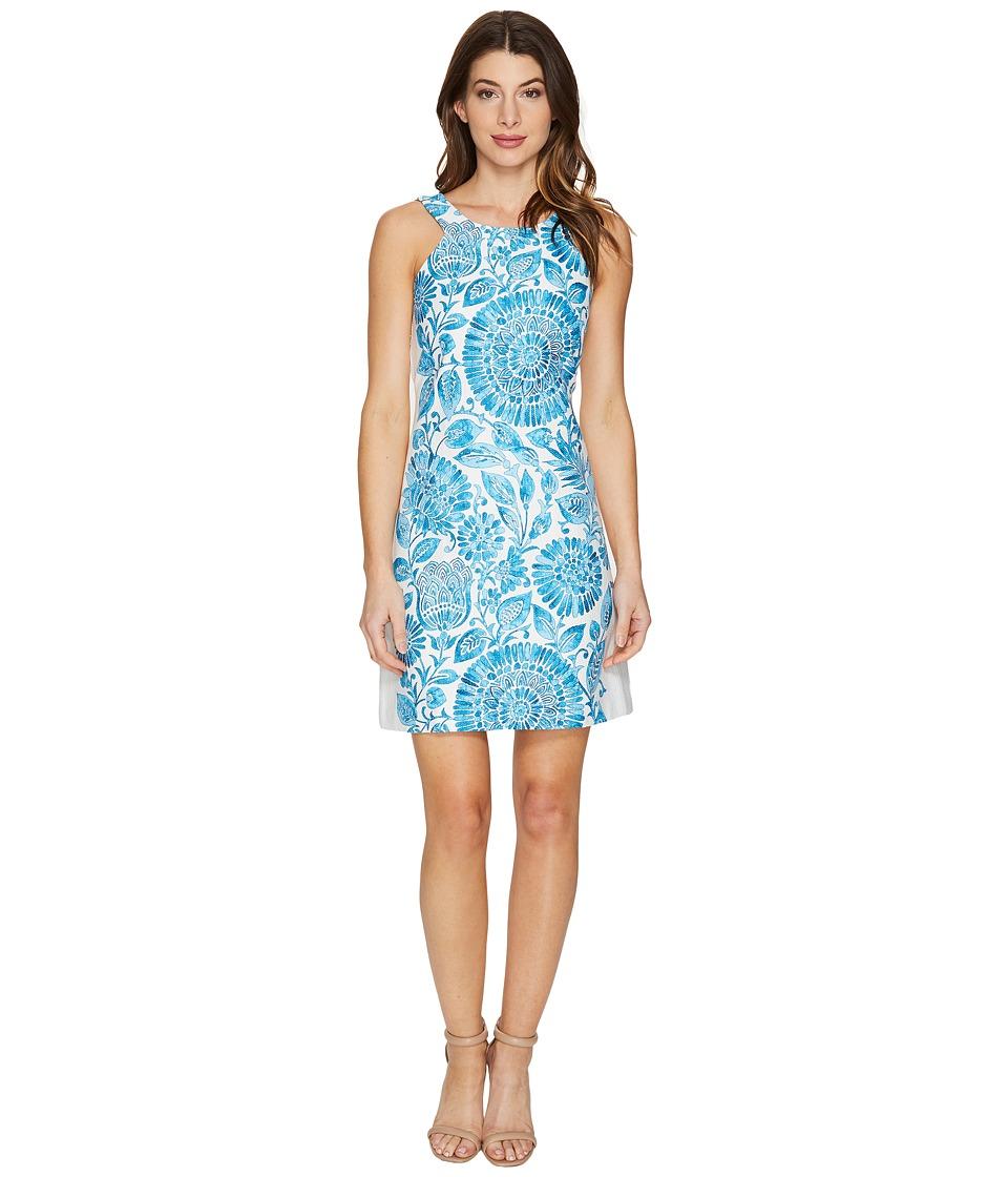 Taylor - Cotton Hopsack Dress (Azure) Women's Dress