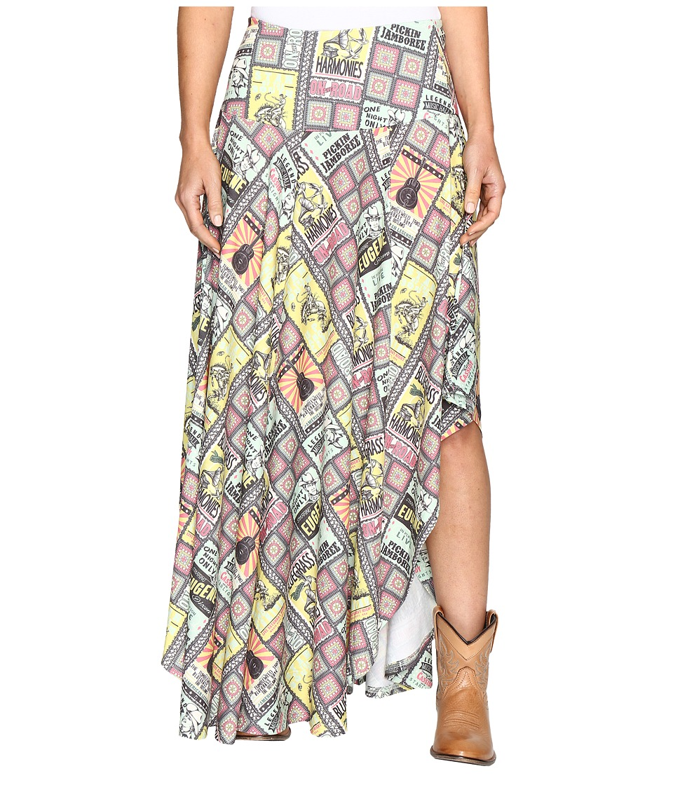 Double D Ranchwear - On the Road Long Skirt (Multi) Women's Skirt