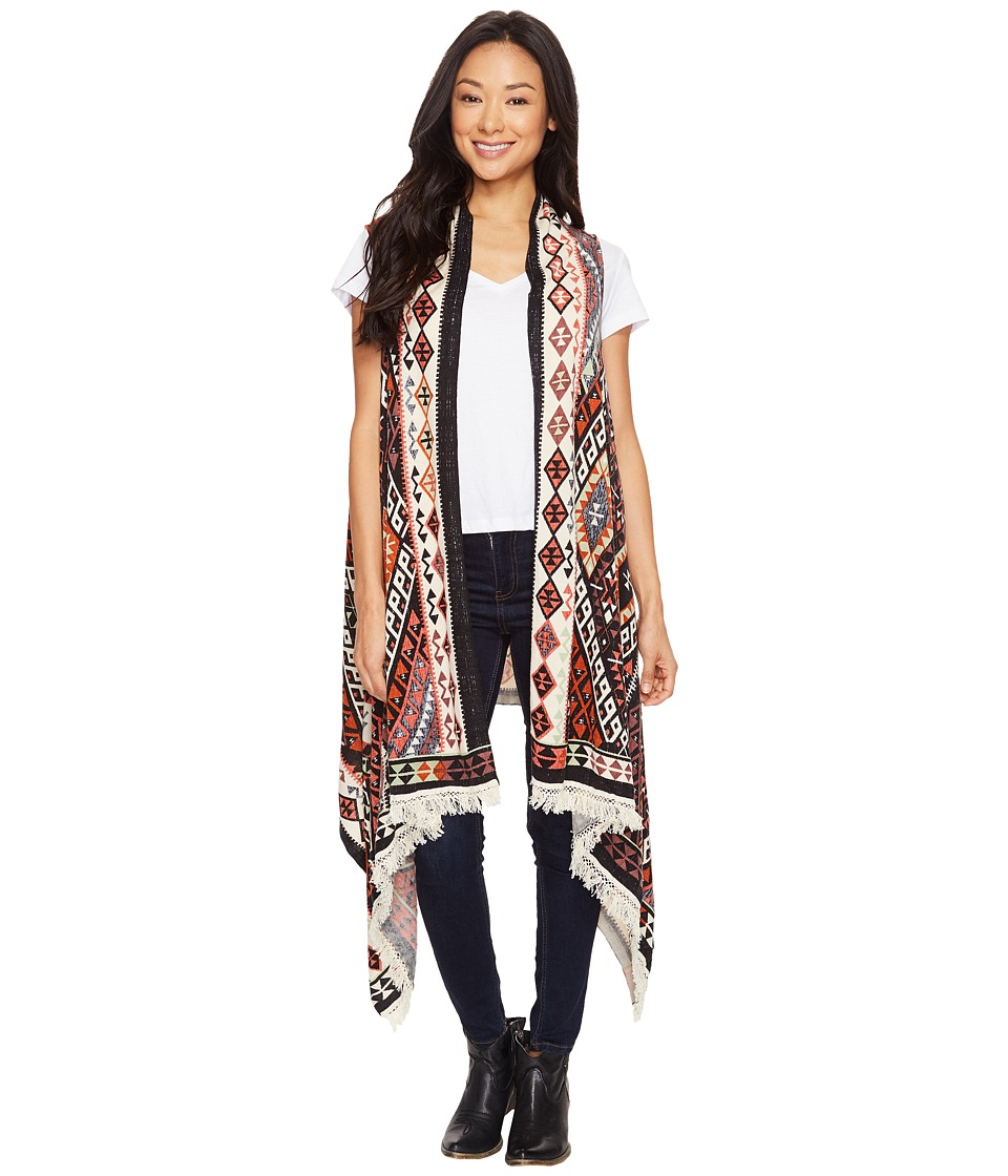 Double D Ranchwear - Hummingbird Blanket Vest (Multi) Women's Vest