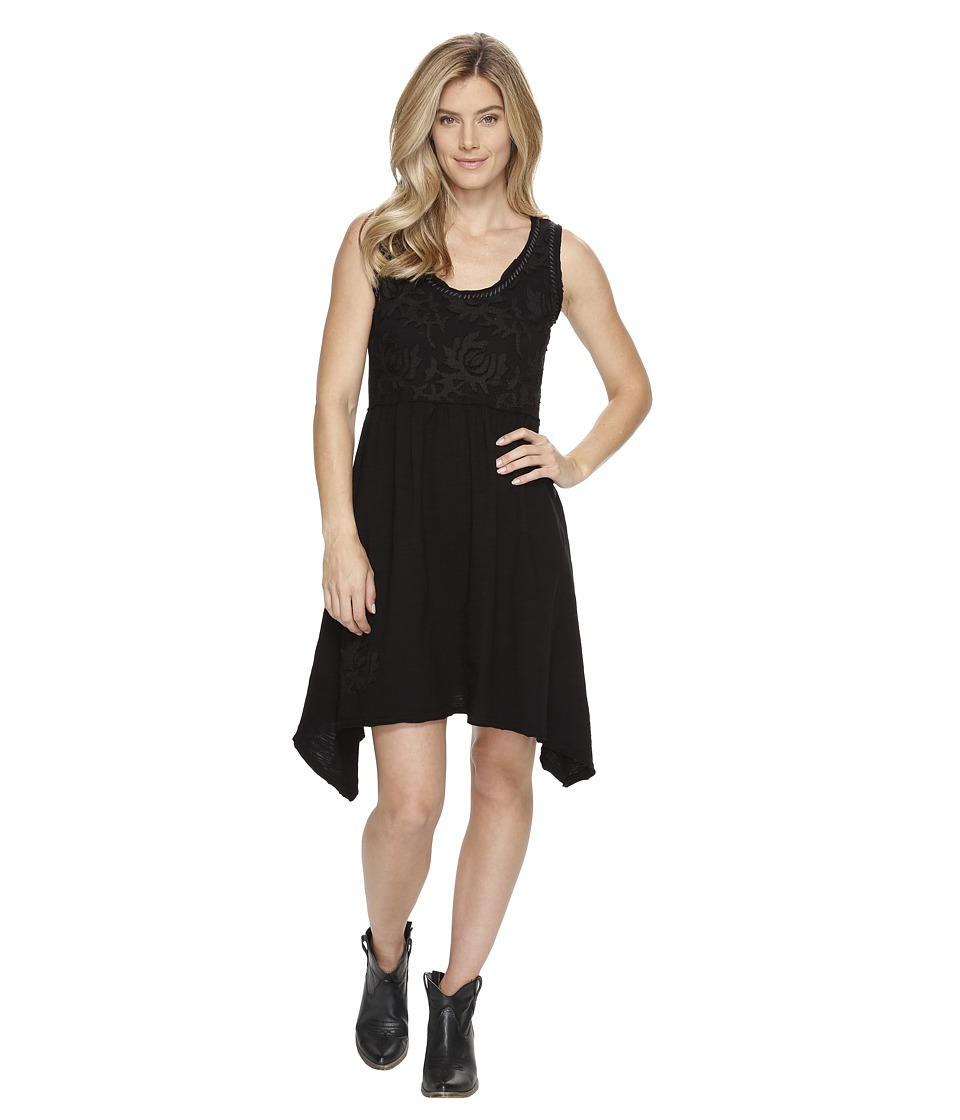 Double D Ranchwear - Lotus Petals Dress (Black) Women's Dress