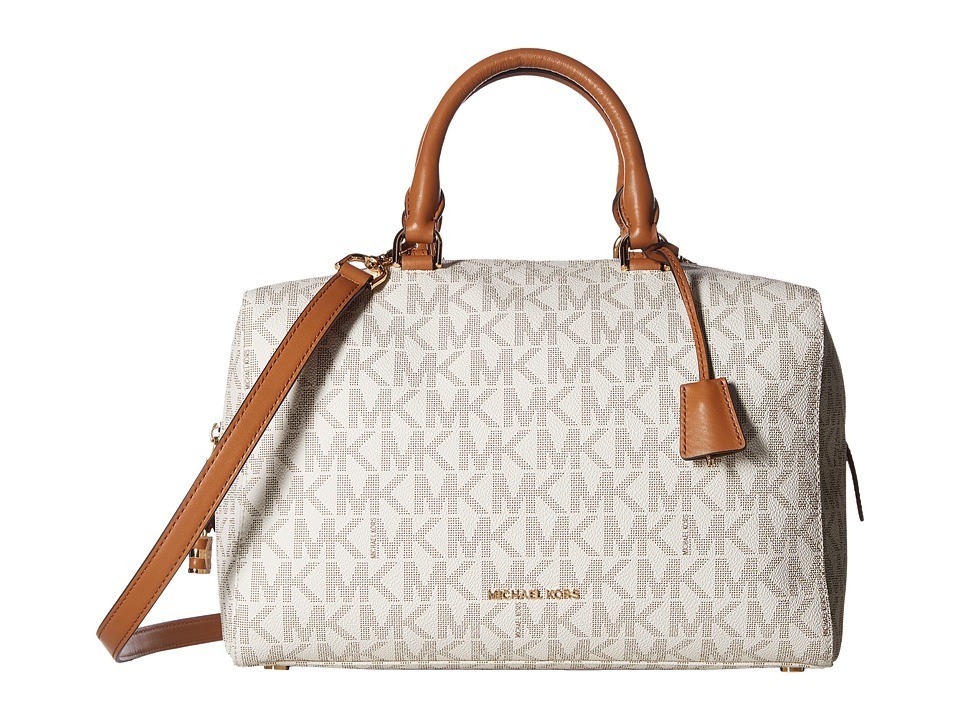 MICHAEL Michael Kors - Kirby Large Satchel (Vanilla) Satchel Handbags