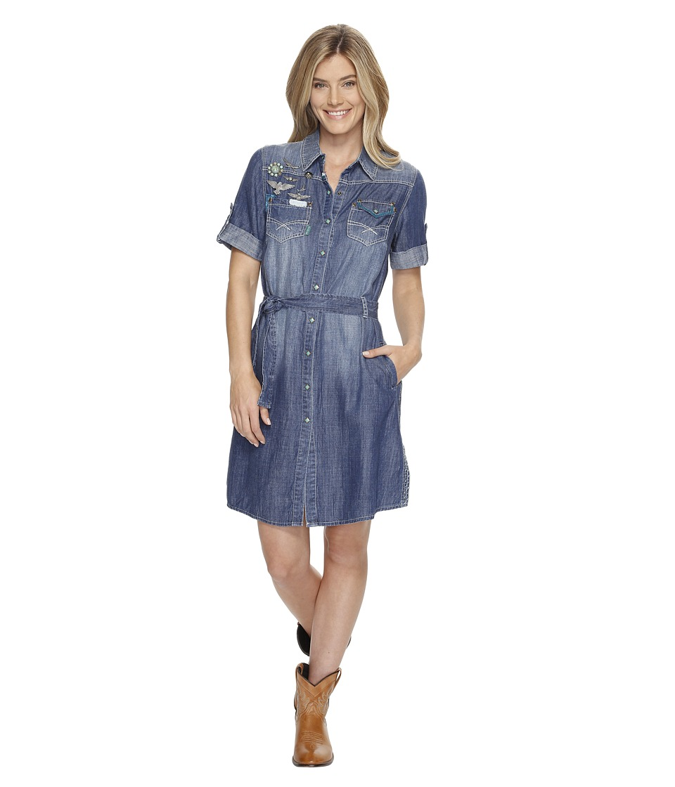 Double D Ranchwear - Thunderbird Friends Dress (Denim) Women's Dress