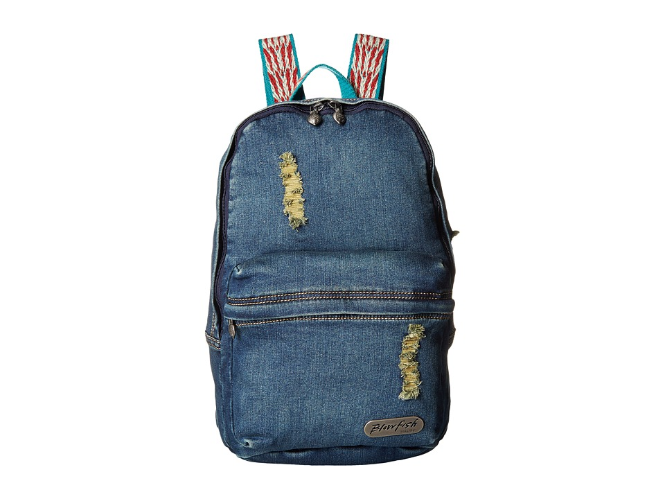 Blowfish - Zuma Beach (Navy Stone Washed Denim) Backpack Bags