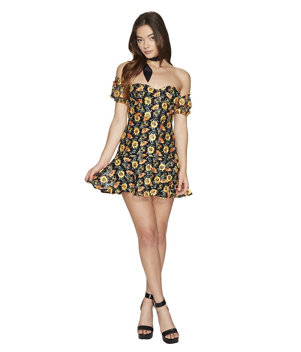 For Love and Lemons - Amelia Strapless Mini Dress (Sunflower) Women's Dress