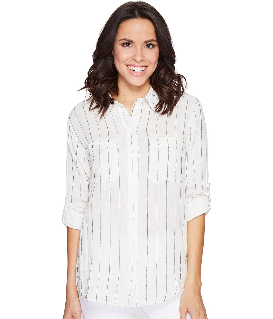 Sanctuary - The Steady Boyfriend Shirt (Loren Ticking Stripe) Women's Long Sleeve Button Up