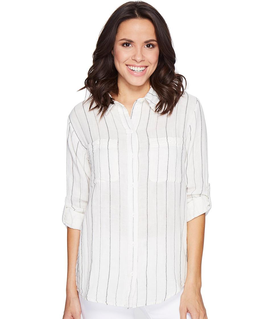 Sanctuary - The Steady Boyfriend Shirt (Loren Ticking Stripe) Women's Long Sleeve Button Up