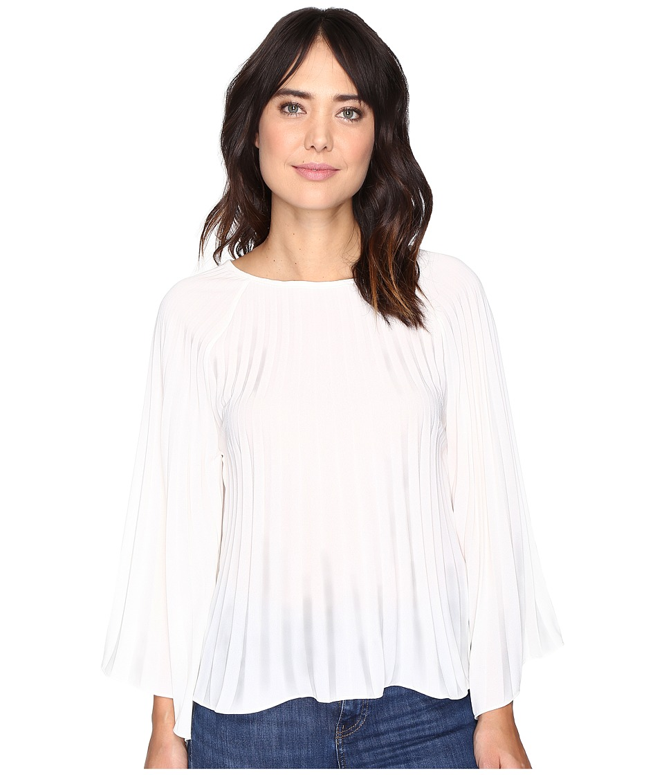 Nicole Miller - Melanie Pleated Blouse (Ivory) Women's Blouse