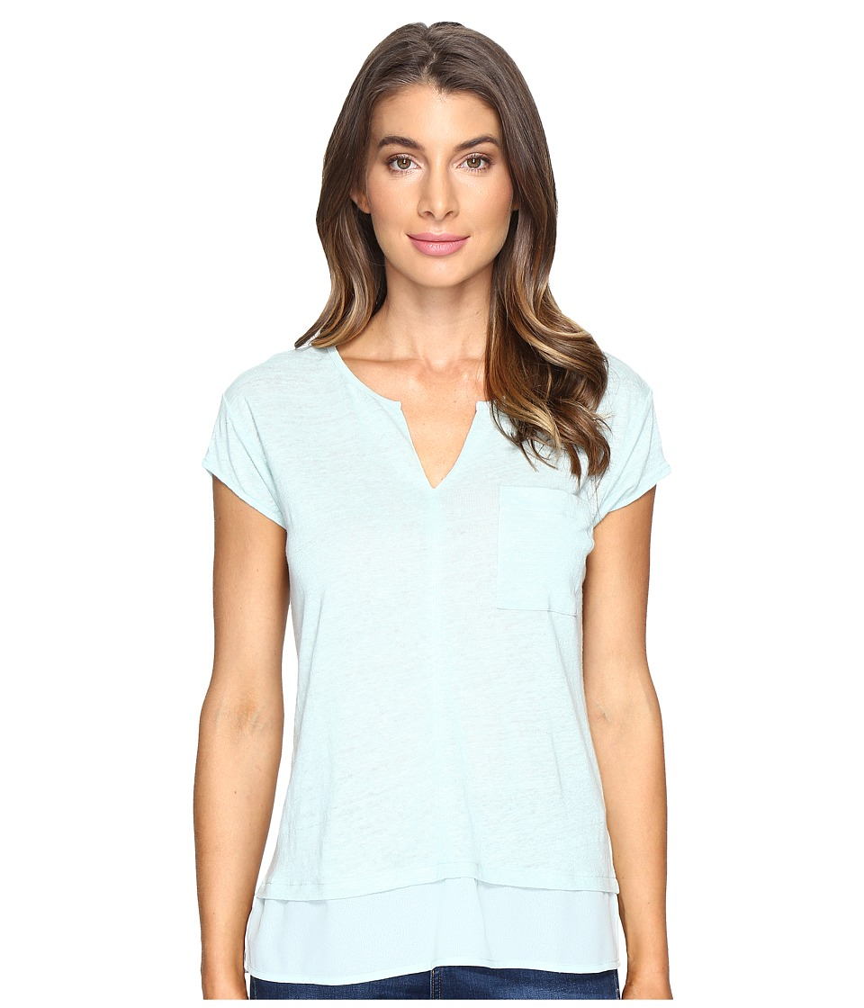Sanctuary - City Mix Tee (Mint Tea) Women's Short Sleeve Pullover