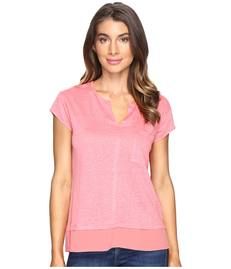 Sanctuary - City Mix Tee (Strawberry) Women's Short Sleeve Pullover