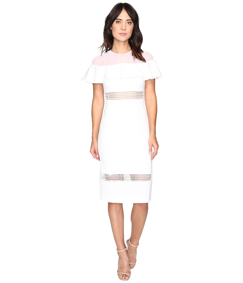 Nicole Miller - Helena Flutter Dress (White) Women's Dress
