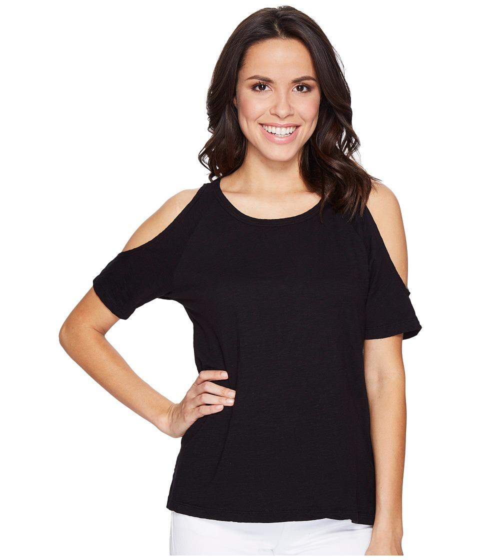 Sanctuary - Lou Bare Shoulder Tee (Black) Women's T Shirt