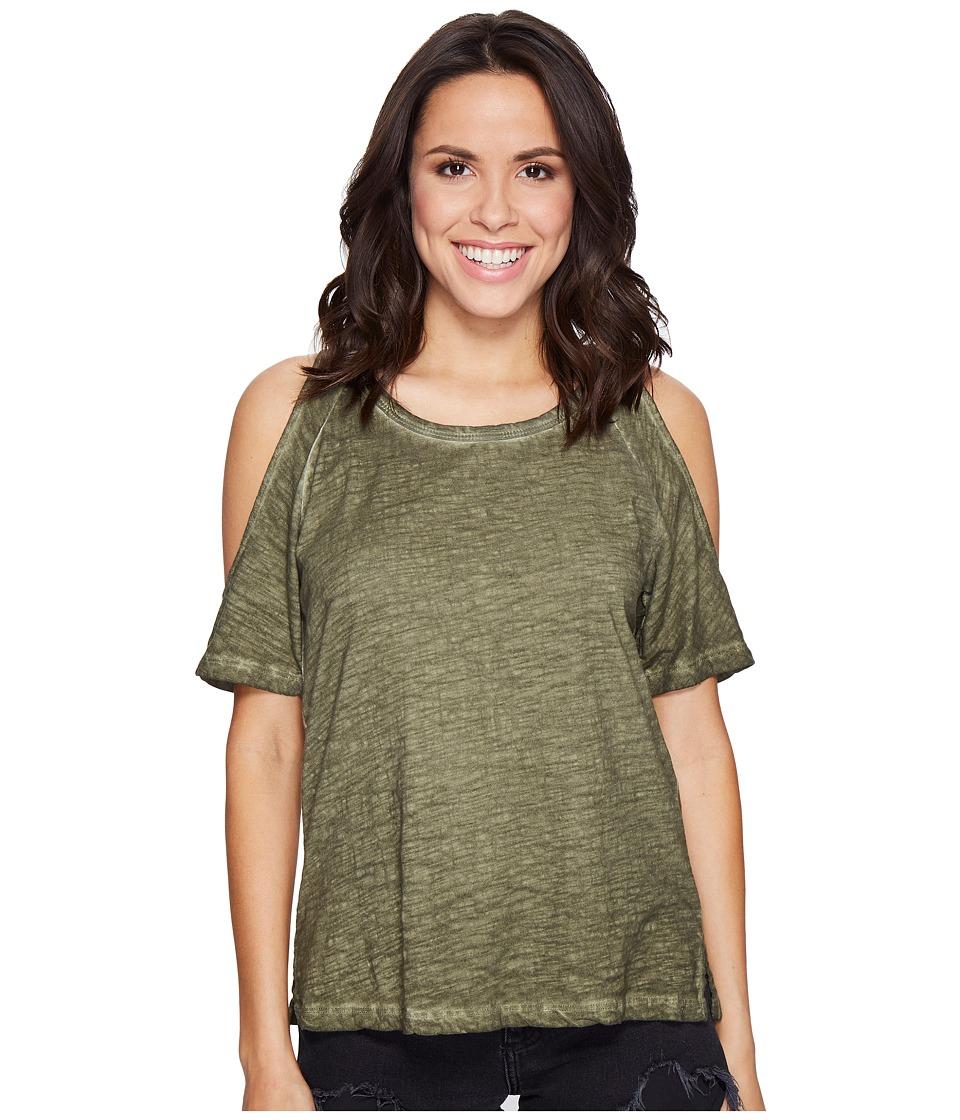 Sanctuary - Lou Bare Shoulder Tee (Cadet) Women's T Shirt
