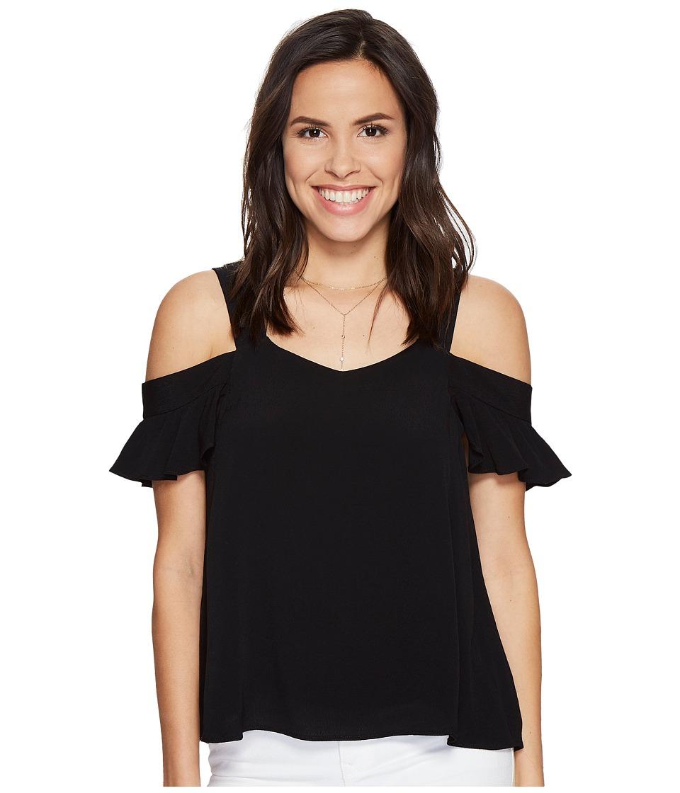Sanctuary - Annie Bare Shoulder Top (Black) Women's Short Sleeve Pullover