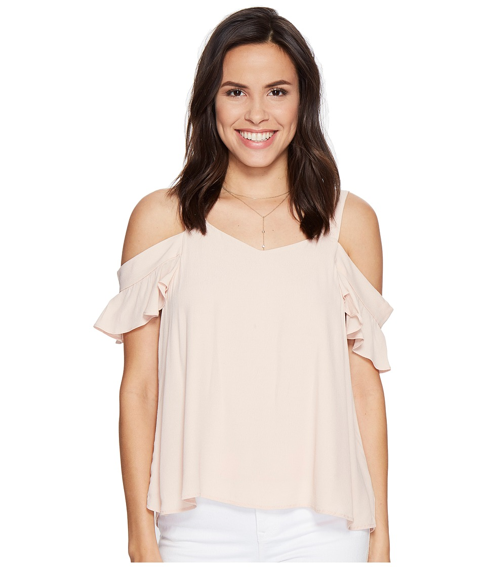 Sanctuary - Annie Bare Shoulder Top (Cameo Pink) Women's Short Sleeve Pullover