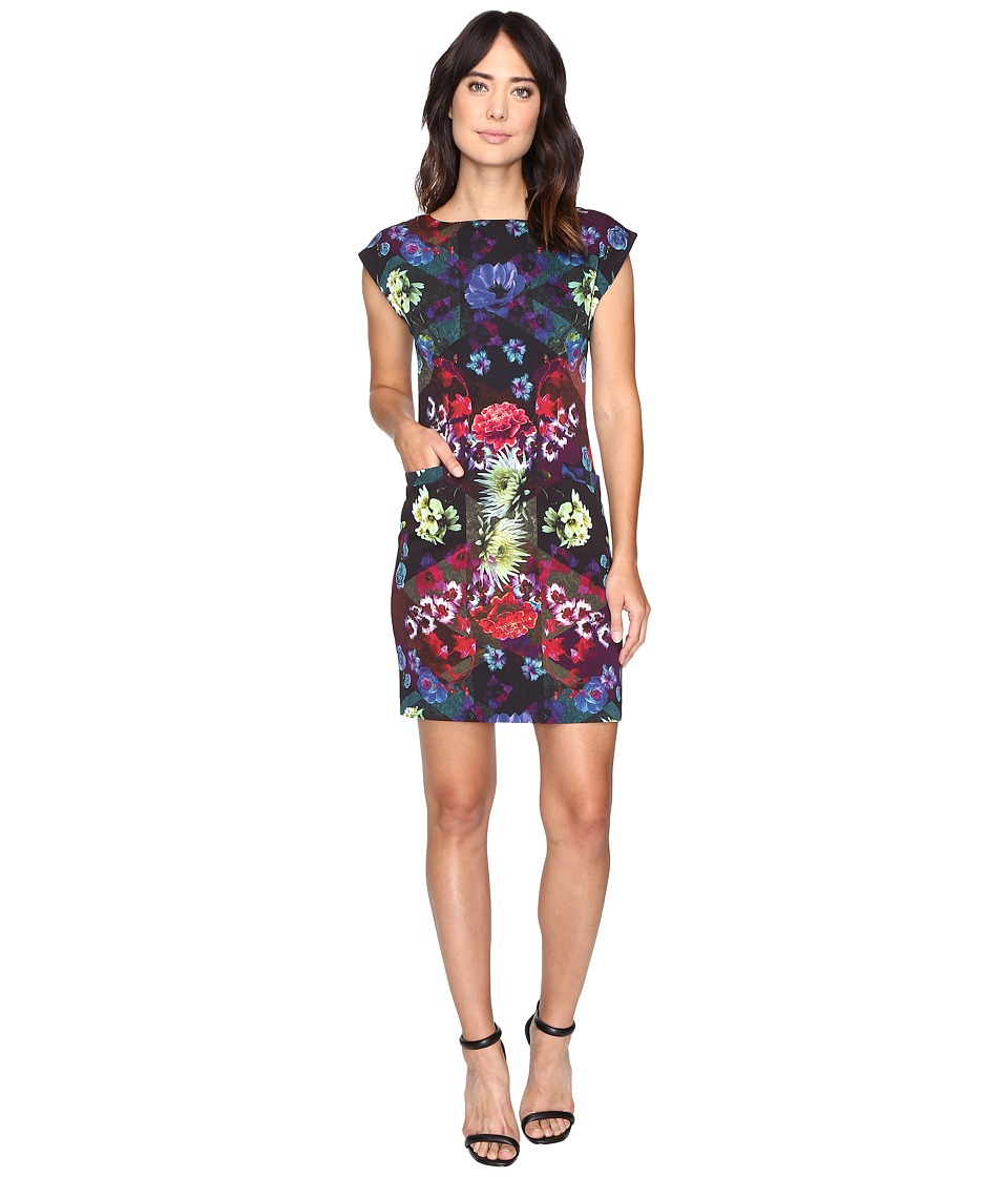 Nicole Miller - Florescent Florals Shift Dress (Multi) Women's Dress