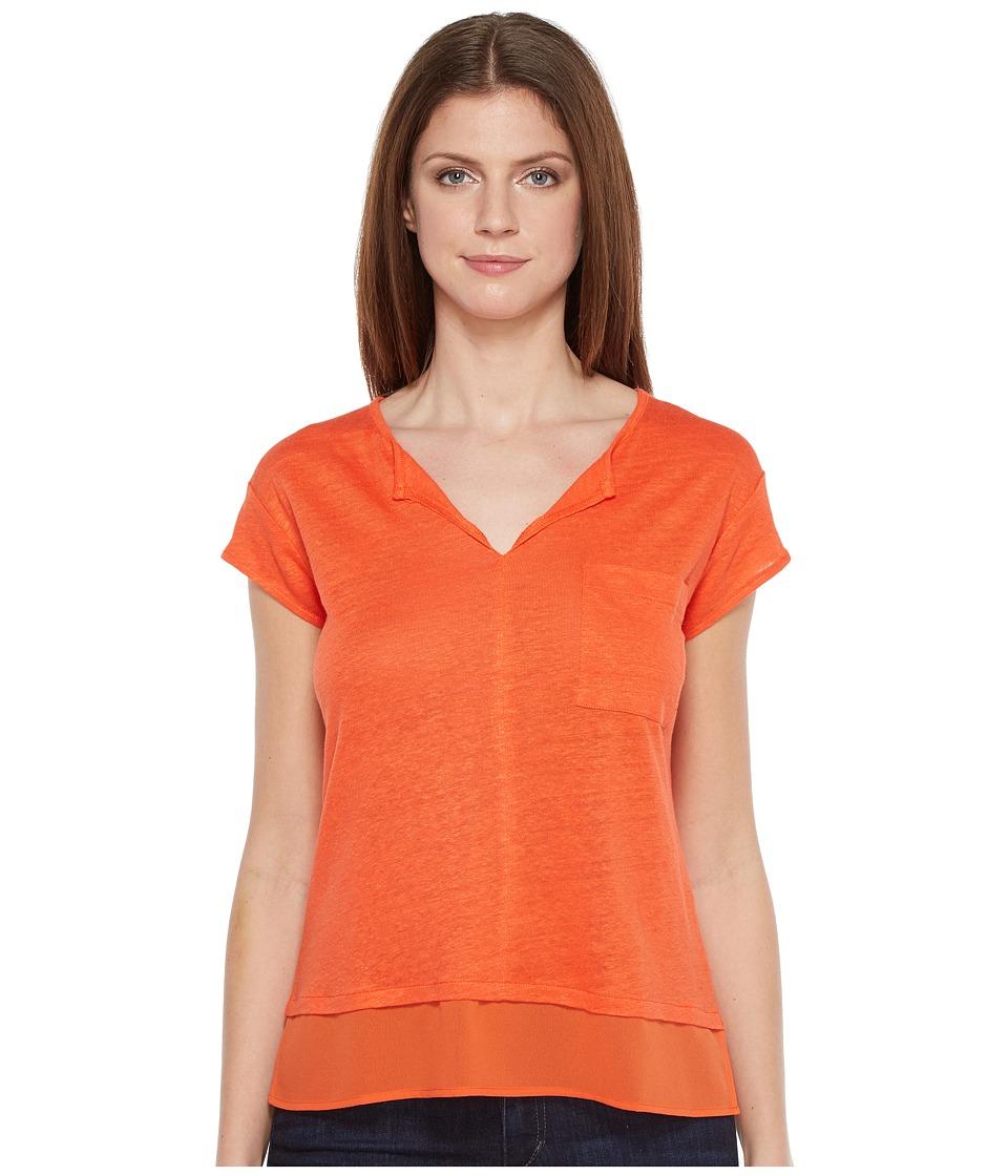 Sanctuary - City Mix Tee (Tigerlily) Women's Short Sleeve Pullover