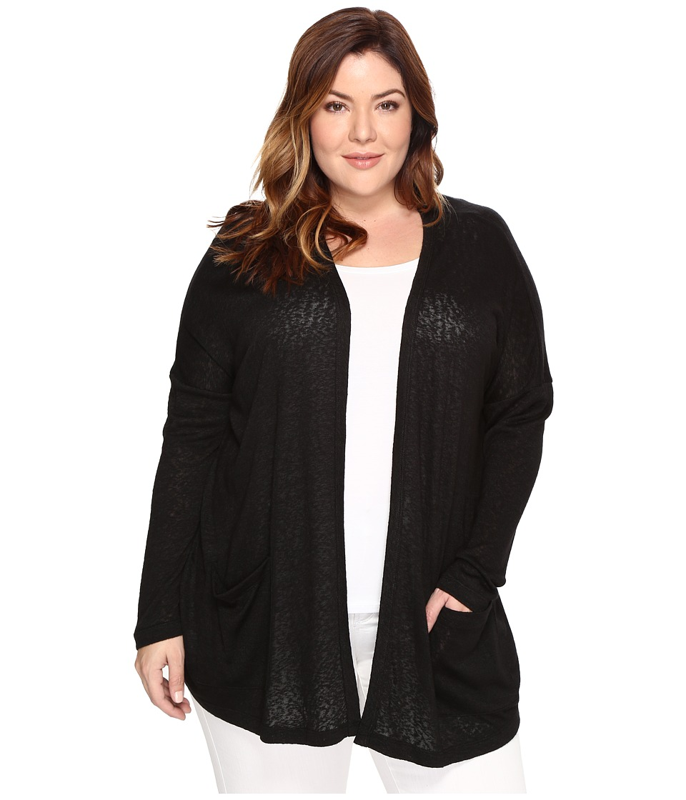 B Collection by Bobeau Curvy - Plus Size Rumor Dolman Cardigan (Black) Women's Sweater