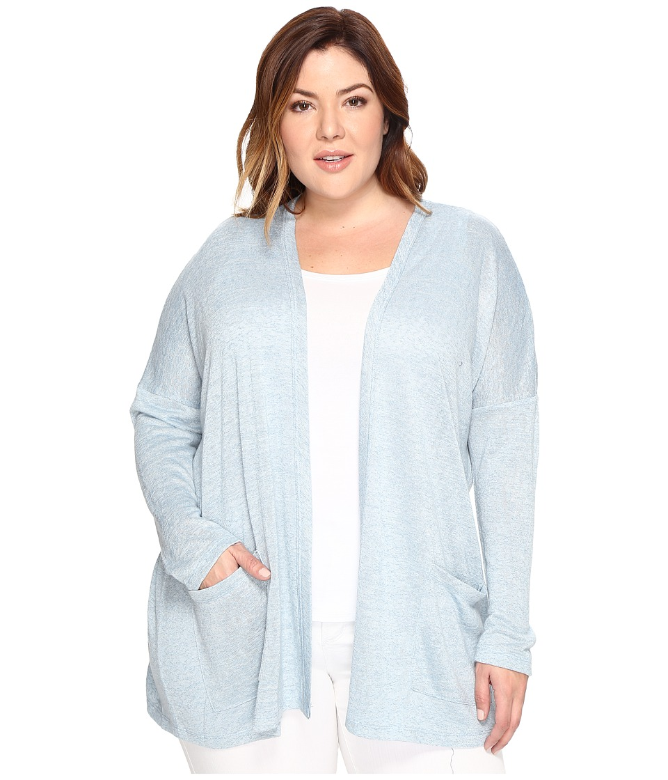 B Collection by Bobeau Curvy - Plus Size Rumor Dolman Cardigan (Light Blue) Women's Sweater