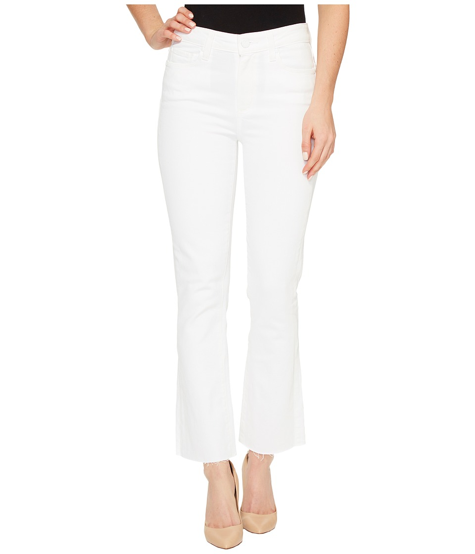 Paige - Colette Crop Flare with Raw Hem in Optic White (Optic White) Women's Jeans