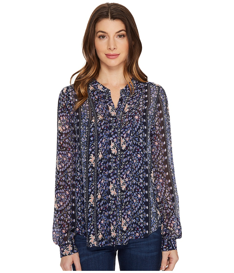 Paige - Samita Blouse (Dark Ink Blue/Bouquet) Women's Blouse