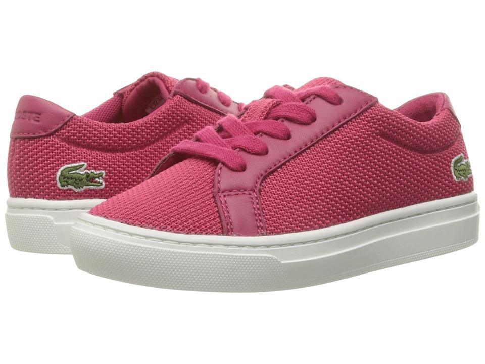 Lacoste Kids - L.12.12 BL 2 CAC (Little Kid) (Dark Pink) Kid's Shoes
