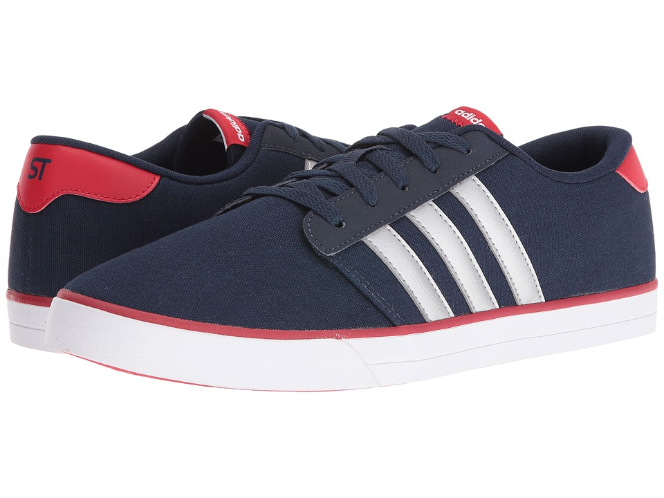 adidas - VS Skate (Collegiate Navy/Silver/Scarlet) Men's Shoes