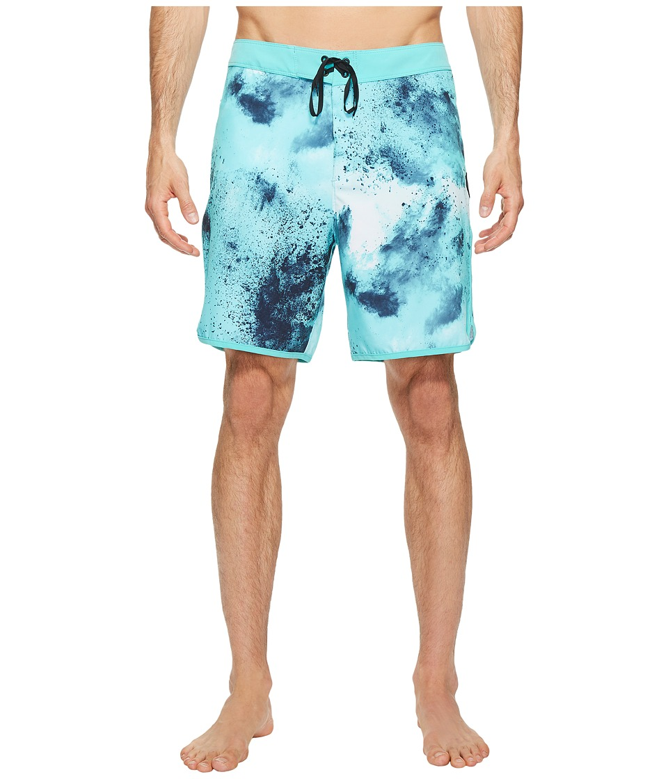 Hurley - Phantom Burst 18 Boardshorts (Bright Aqua) Men's Swimwear