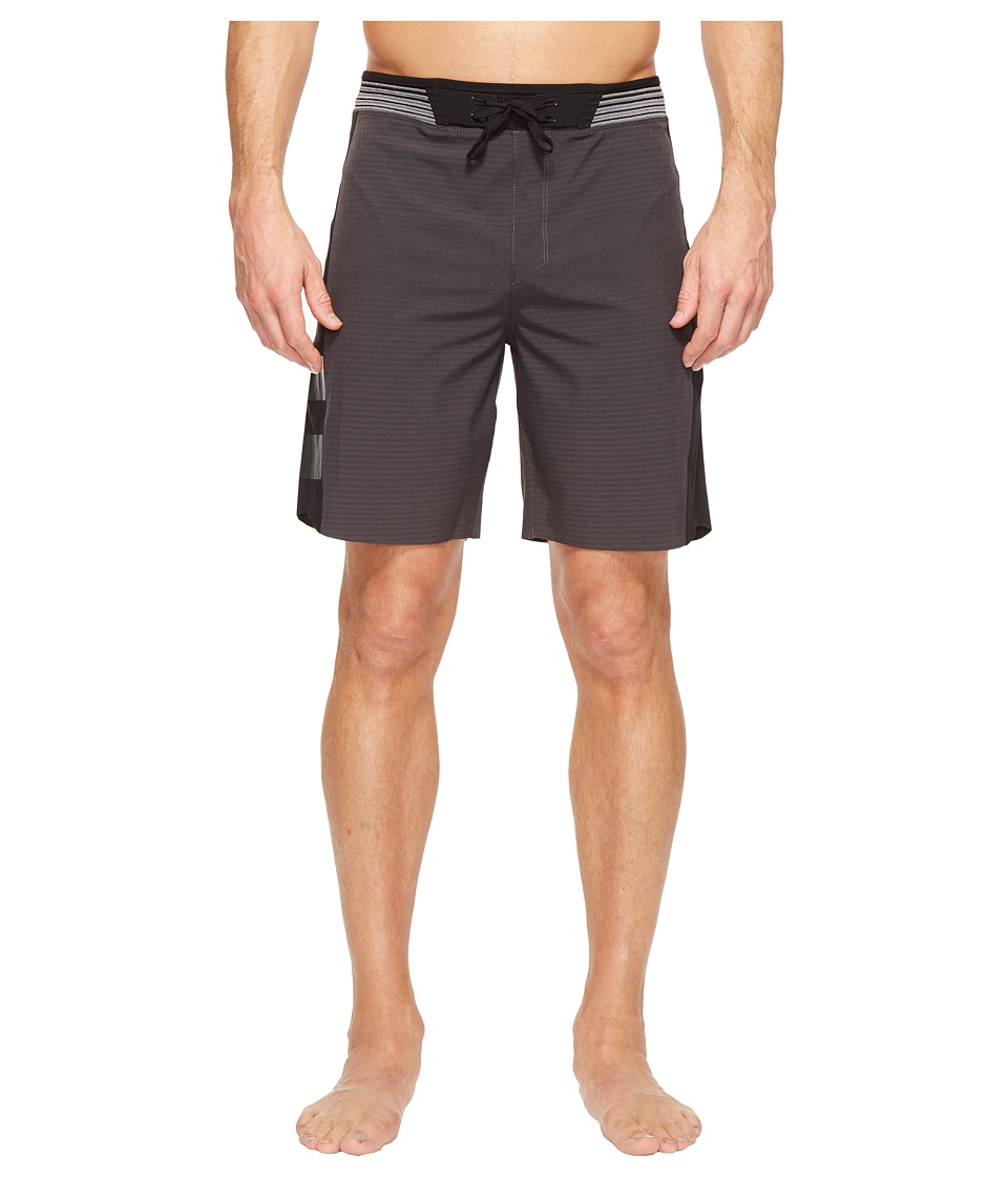Hurley - Phantom Hyperweave Motion Stripe Elite Boardshorts (Black) Men's Swimwear