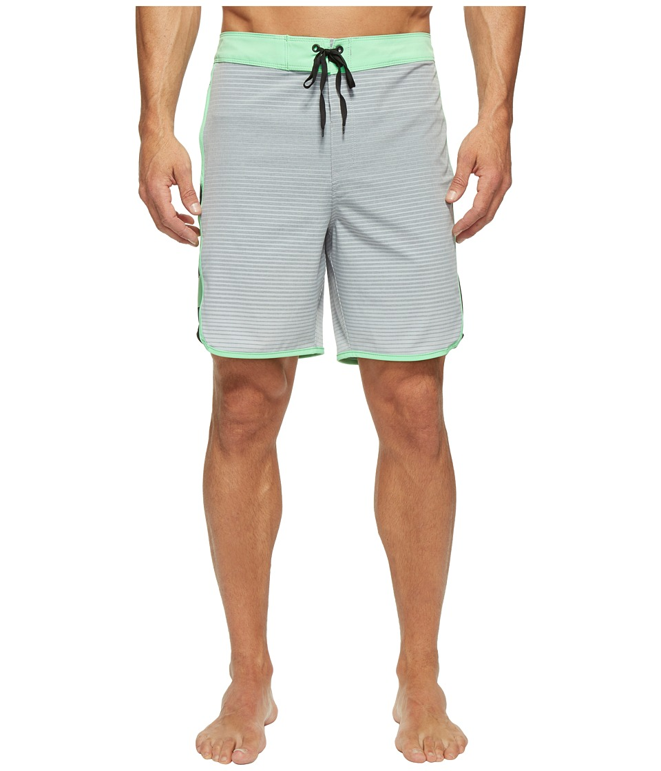Hurley - Phantom Motion Stripe 19 Boardshorts (Wolf Grey) Men's Swimwear
