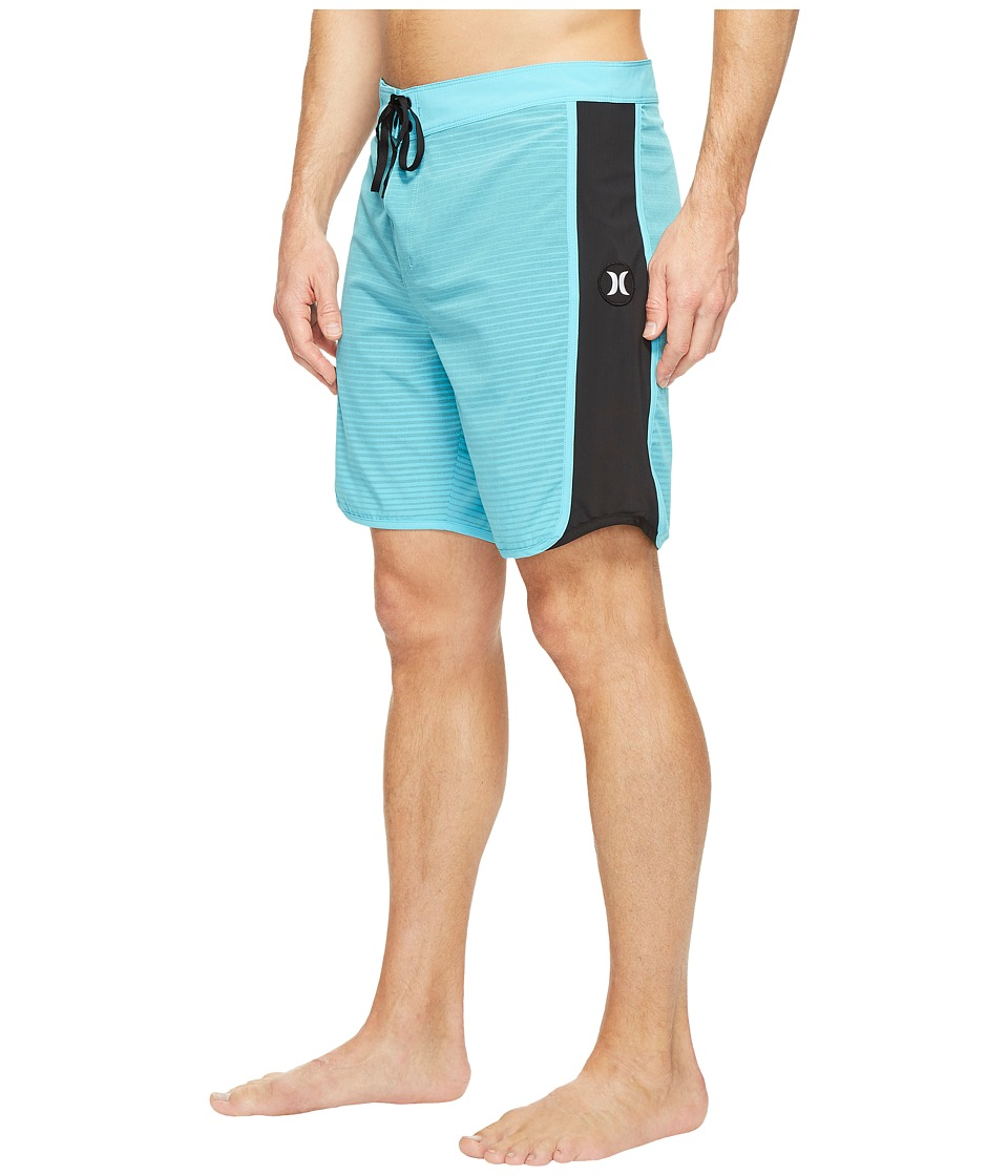 Hurley - Phantom Motion Stripe 19 Boardshorts (Chlorine Blue) Men's Swimwear