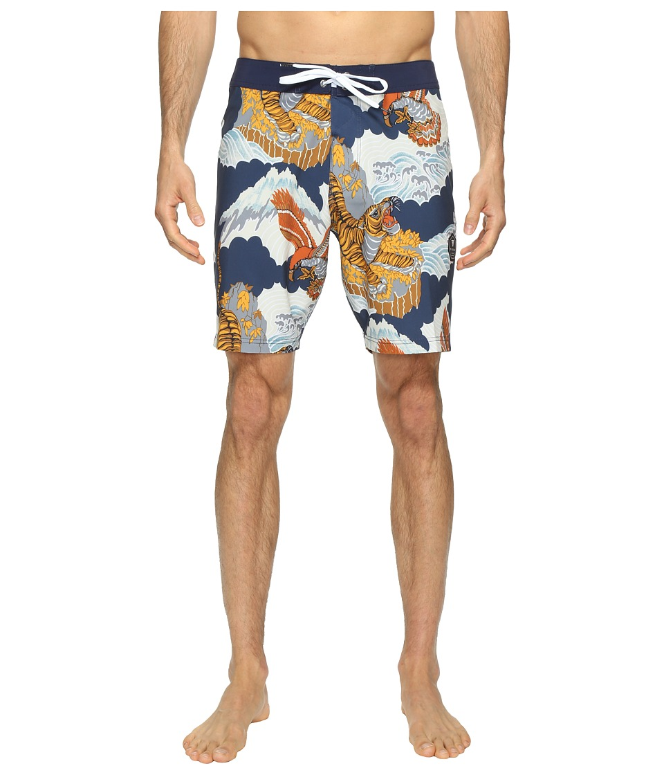 VISSLA Sunda Land Four-Way Stretch Boardshorts 18.5 (Dark Navy) Men
