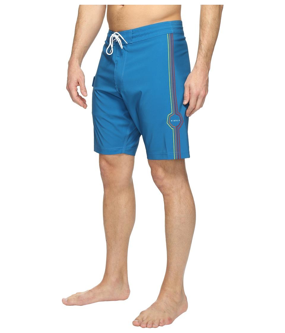 VISSLA - Dead Low Four-Way Stretch Boardshorts 20 (Blue Velvet) Men's Swimwear