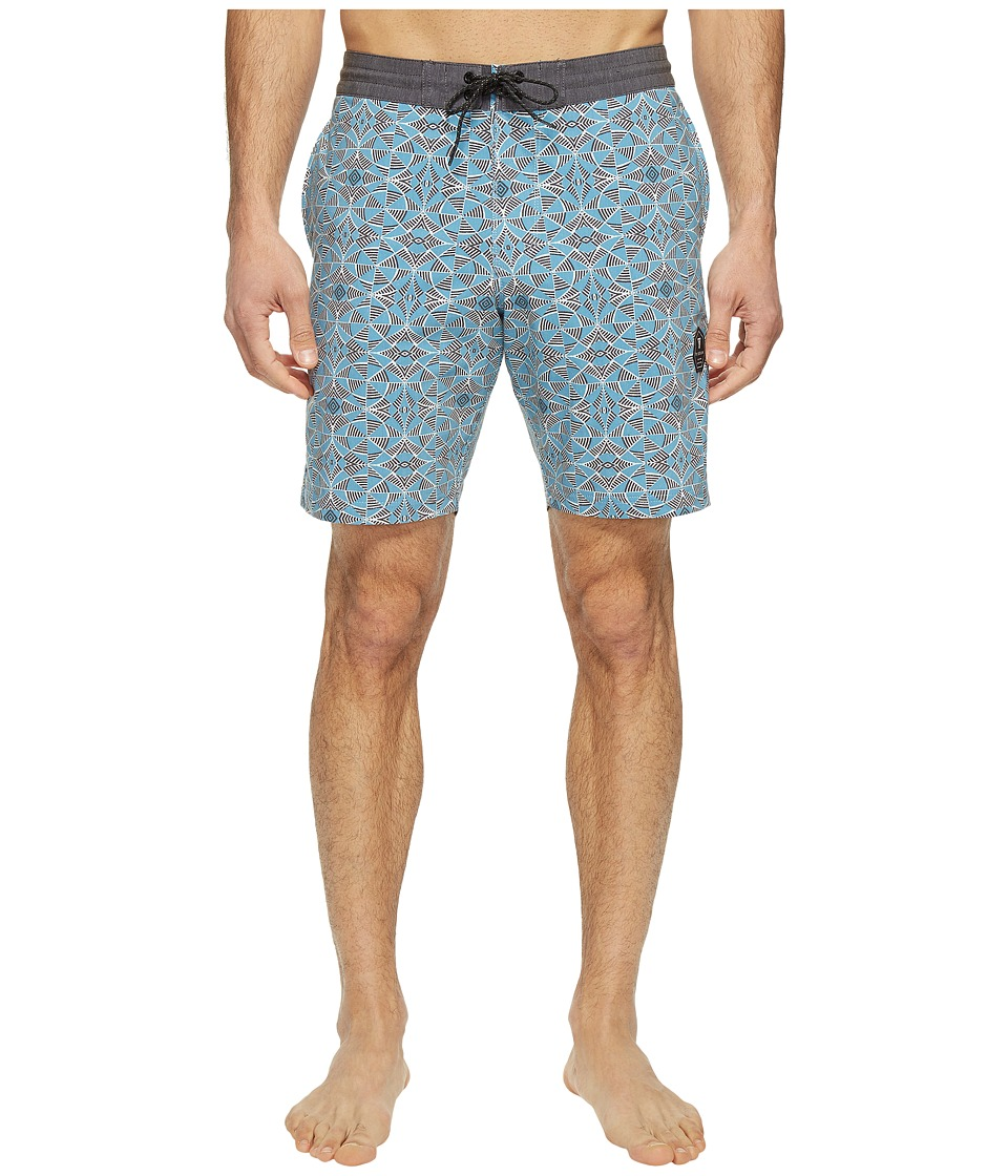 VISSLA - Trailer Bay Washed Four-Way Stretch Boardshorts 18.5 (Blue Fog) Men's Swimwear