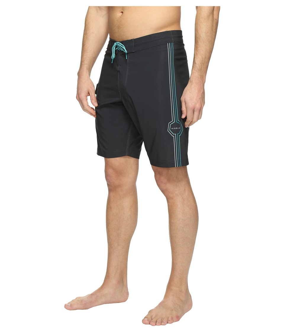 VISSLA - Dead Low Four-Way Stretch Boardshorts 20 (Phantom) Men's Swimwear
