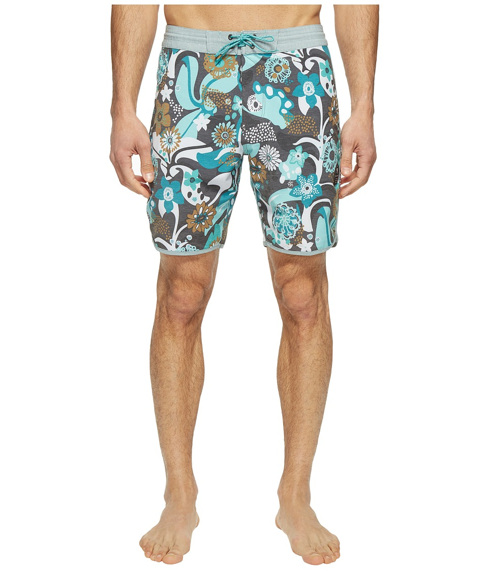 VISSLA Tide Riders Washed Four-Way Stretch Boardshorts 18.5 (Phantom) Men