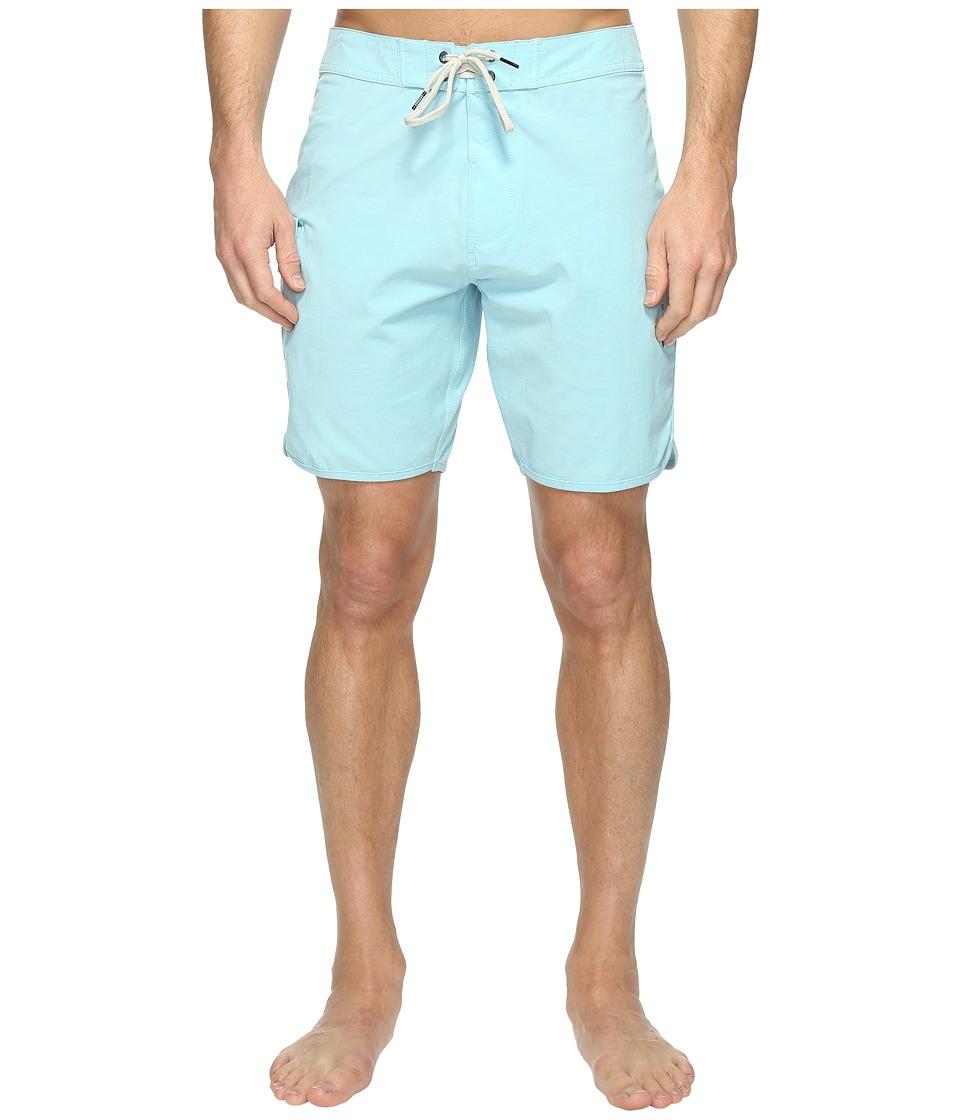 VISSLA - Boardertown Four-Way Stretch Heathered Boardshorts 18.5 (Sky) Men's Swimwear
