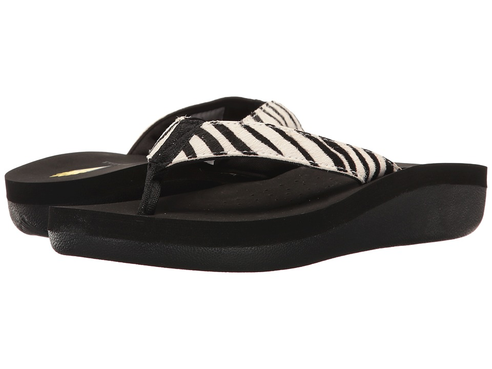 VOLATILE - Naila (Black/White/Zebra) Women's Sandals