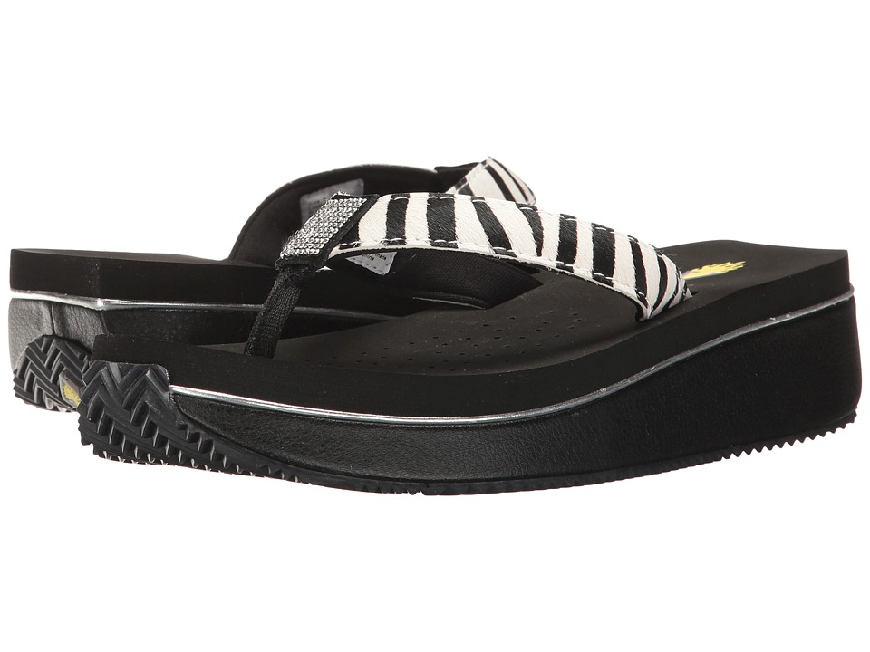 VOLATILE - Devri (Black/White/Zebra) Women's Wedge Shoes