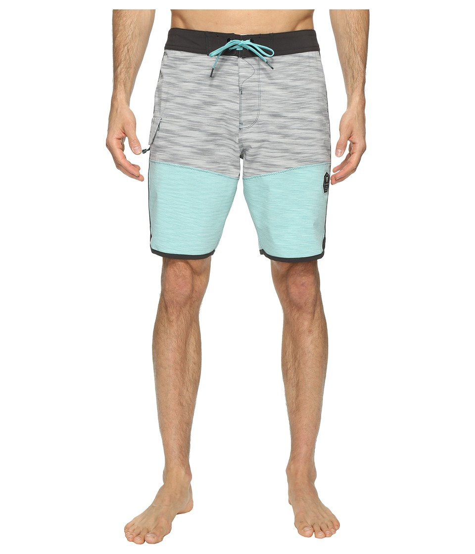 VISSLA Spaced Diver 4-Way Stretch Space Dye Boardshorts 20 (Teal) Men