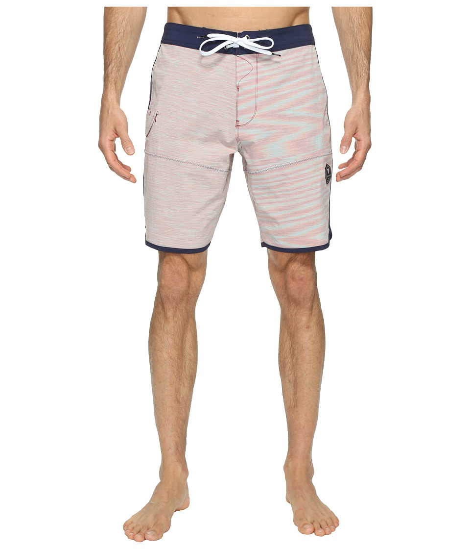 VISSLA - Spaced Diver 4-Way Stretch Space Dye Boardshorts 20 (Blood) Men's Swimwear