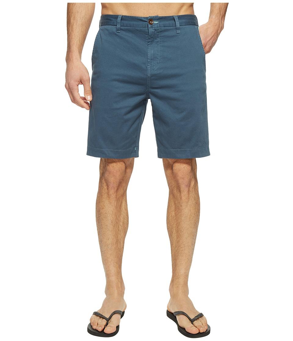 VISSLA - No See Ums 19 Twill Chino Walkshorts (Slate) Men's Shorts